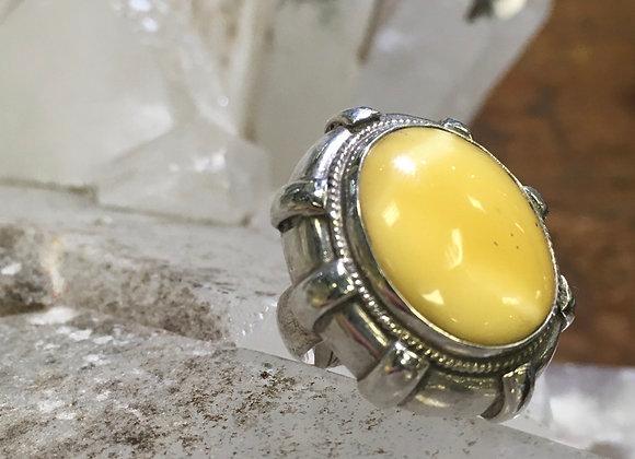 Saville butter amber ring