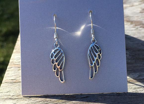 Cutout wing earrings