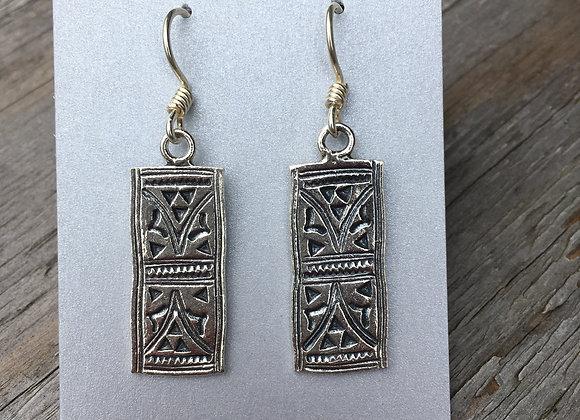 Hilltribe rectangle earrings