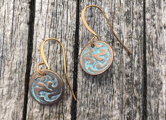 Alasha bronze wave earrings