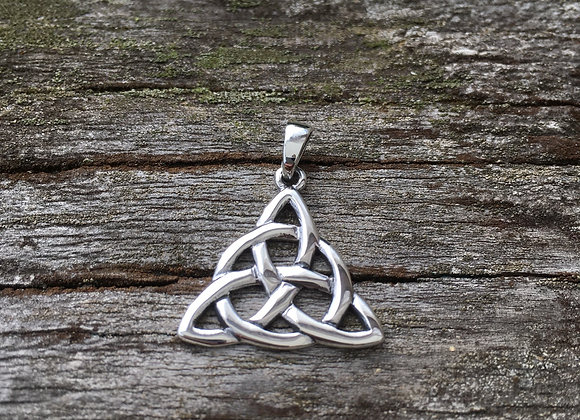 Triangle Celtic knot pendant