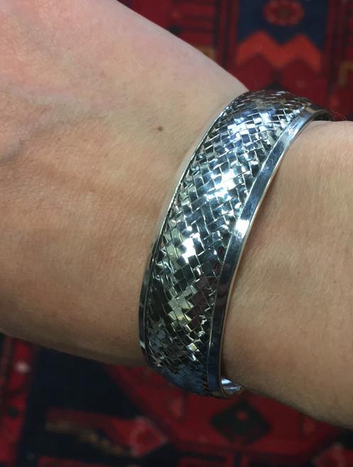 8263ff1d60d Basket weave cuff bracelet
