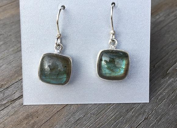 Soft square Labradorite earrings