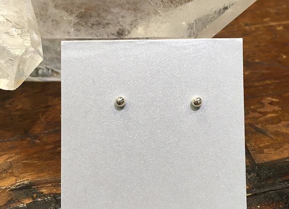 3mm silver ball studs