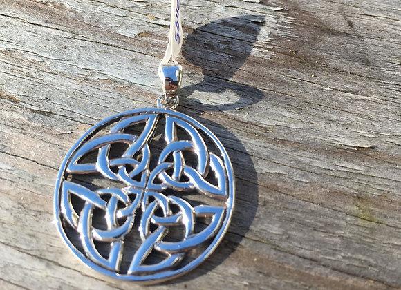 Celtic trinity round pendant