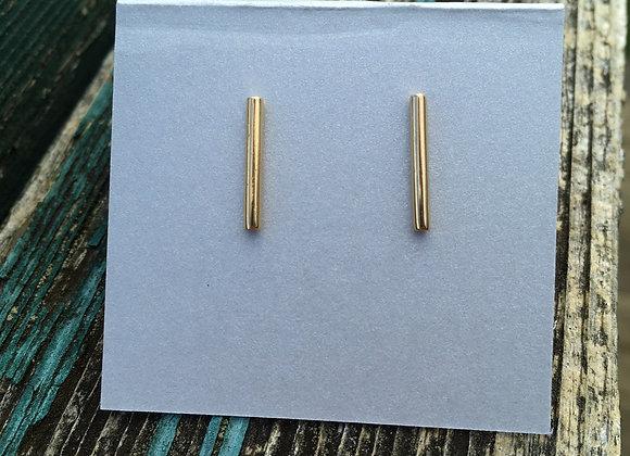 14 carat gold fill bar studs