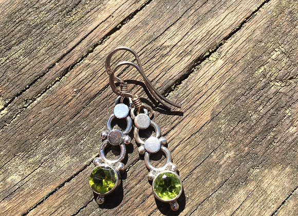 Peridot dangly earrings