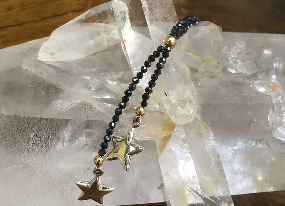 Shooting stars lariat necklace