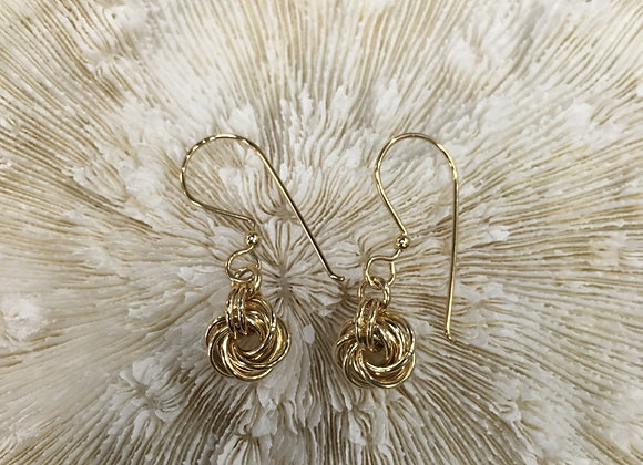 Mikel Grant 14k gold fill love knot earrings