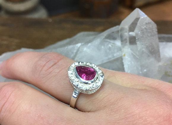 Marija Designs pink tourmaline ring
