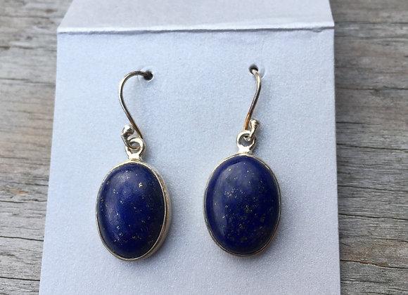 Deep blue lapis earrings