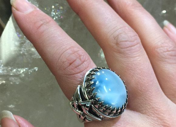 Mercurious Designs Larimar Pentagram Ring