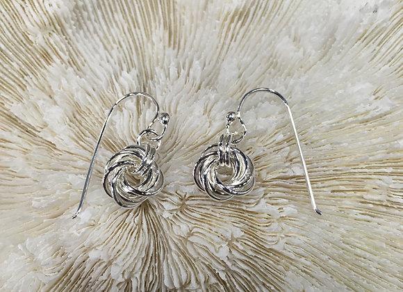 Mikel Grant love knot earrings