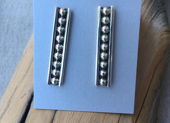 Long dots stud earrings