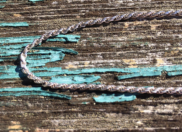 "18"" thin oxidized robe chain"