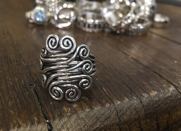 Spirals of life ring