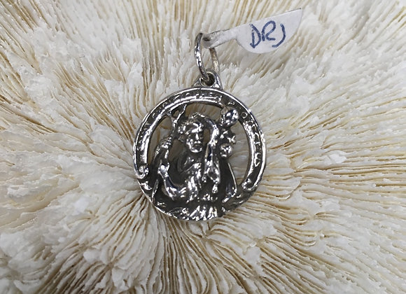 Cutout St Christopher pendant