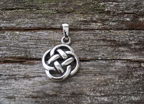 Small round Celtic knot pendant