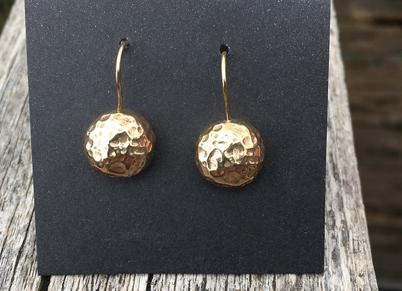 Yutal hammered gold earrings