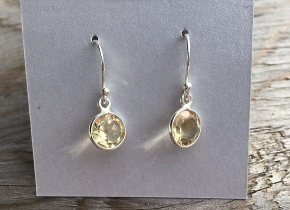 Simple round citrine earrings