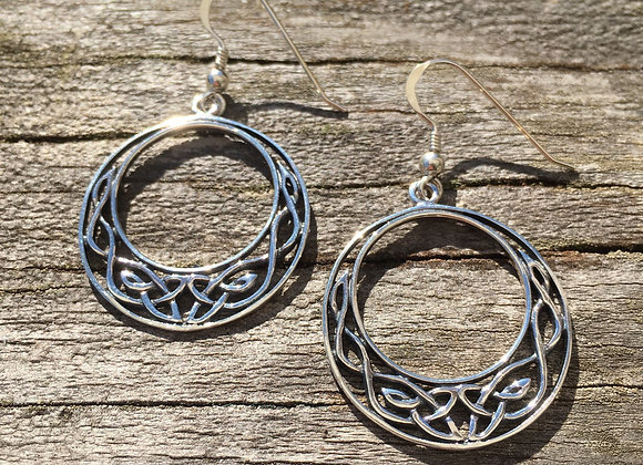 Large Celtic crescent earrings