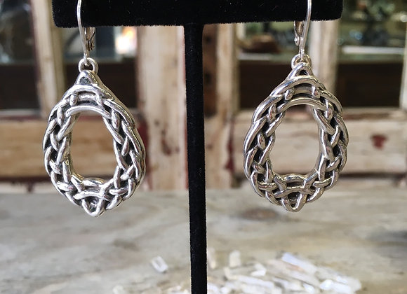 Vintage large celtic knot earrings