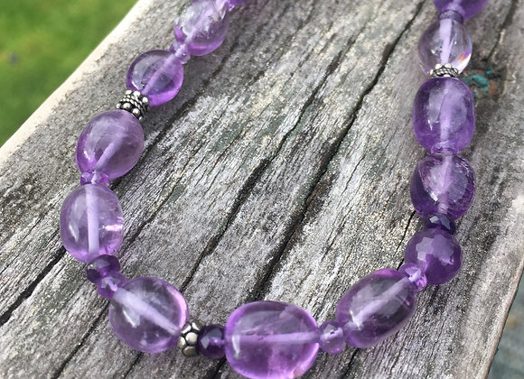 GenVie designs chunky amethyst necklace