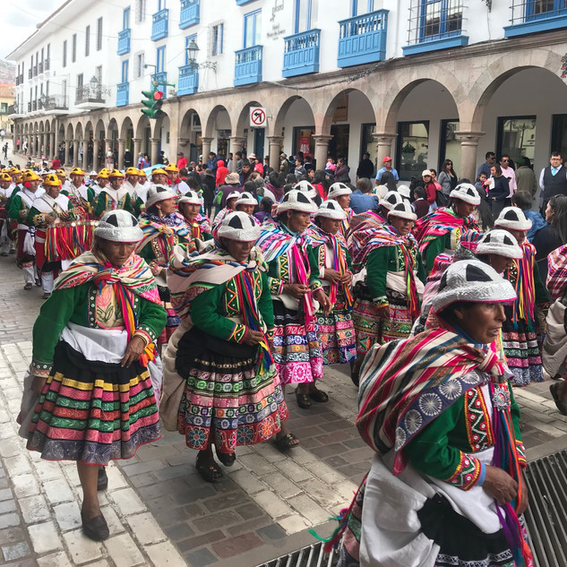 Cusco - local festival, project launch