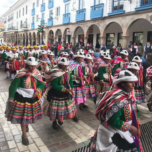 Cusco - local festival, project launch