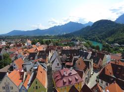 Blick auf Altstadt Füssen