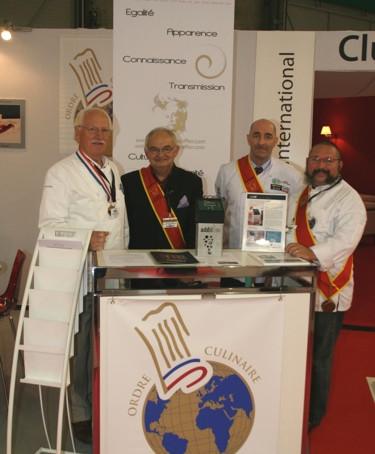SIAL 2010, Présentation du thermoplongeur SWID aux Disciples d'Escoffier
