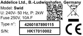 The SWID Immersion Circulator adopts QR Codes