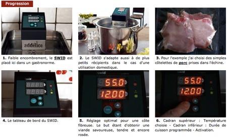 Test termoplongeur SWID pour cuisson sous vide par le Chef Simon
