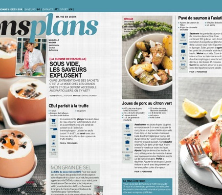 SWID featured in introductory article about Sous Vide Cooking in Swiss magazine Femina