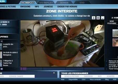 Zone Interdite M6, Blog-Moleculaire.com utilise le SWID pour cuire un flétan sous vide