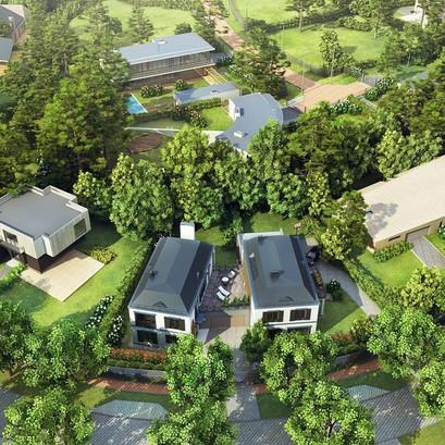"""Projektā """"Mežaparka rezidences"""" sākta dzīvokļu un rindu māju būvniecība"""