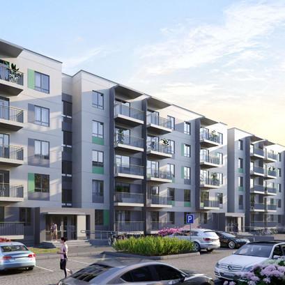 """Jau uzsākti Purvciema projekta """"Green City"""" trešajā mājā būvdarbi"""