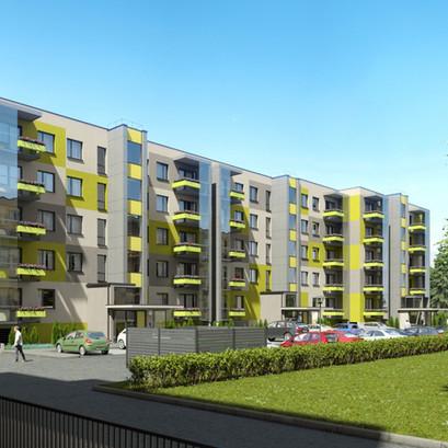 """Šogad uzsākta daudzdzīvokļu namu kompleksa """"Biķerziedi"""" pēdējās ēkas būvniecība Teikā"""