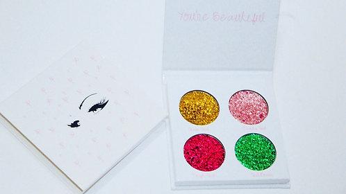 Mini glitter pallet