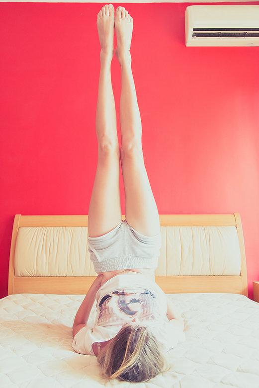 Beine hoch