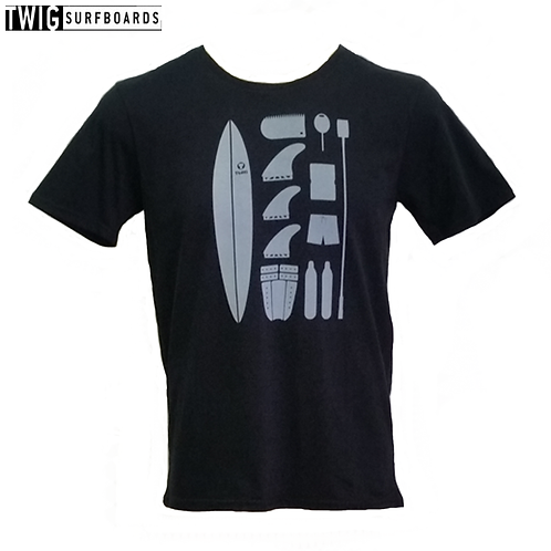 Twig  Surfboards t-shirt (Black)