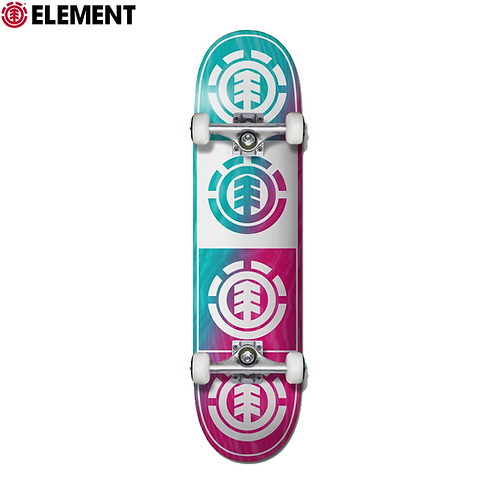 """ELEMENT QUADRANT TEAL PINK 7,75"""" COMPLETE SKATEBOARD"""