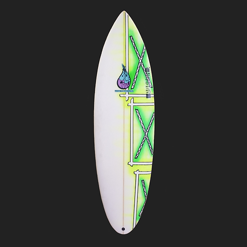 BLUE COOL HIGH PERFORMANCE SURFBOARD 5'10""