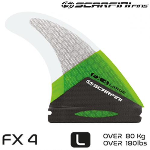 SCARFINI FX 4 CARBON BASE SINGLE TAB FINS (THRUSTER)