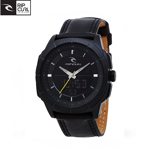 RIPCURL Mahem Analogue and Digital Blk Leather
