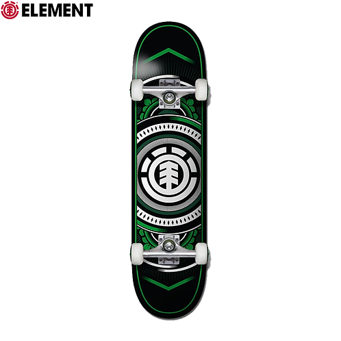 "ELEMENT HATCHED VERDE TWIG 7.25"" COMPLETE SKATEBOARD"