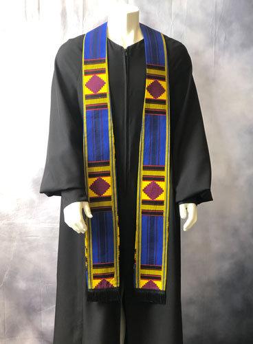 Long Clergy Kente Cloth Stole