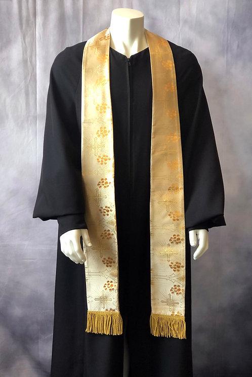 Long Clergy Metallic Brocade Stole