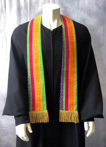 Short Graduation Kente Cloth Stole