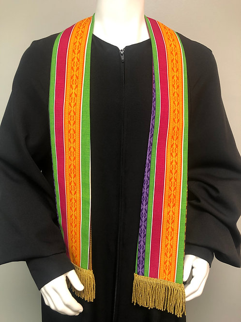 Short Graduation Kente Cloth Stole